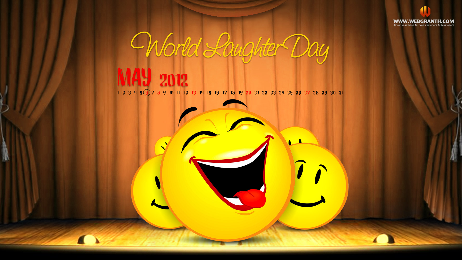 World Laughter Day Free Wallpaper Download Calendar View