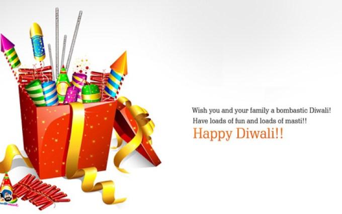 Happy Diwali Greeting Wallpaper