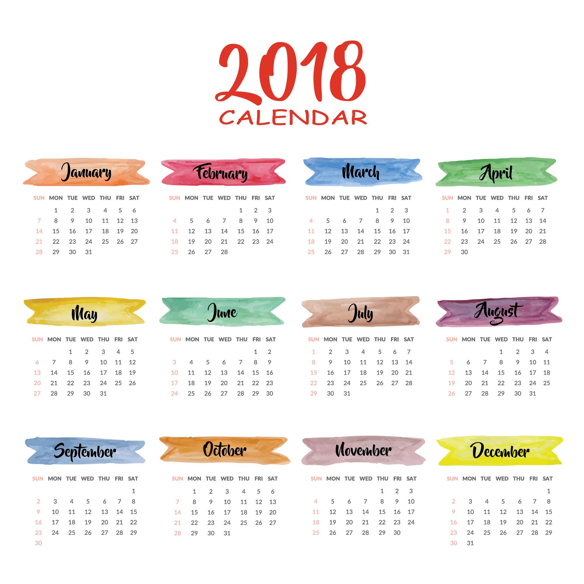 2018 Holiday Calendar Wallpaper View HD Image Of 2018