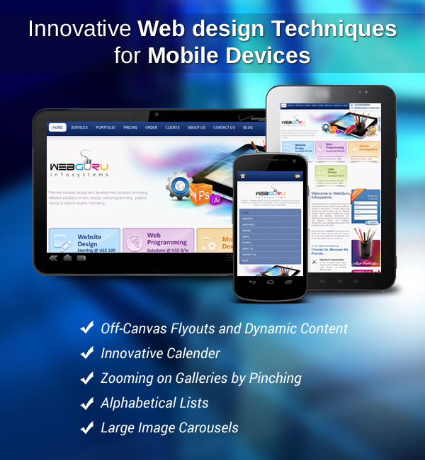 The New Web Design Techniques For Mobile Devices