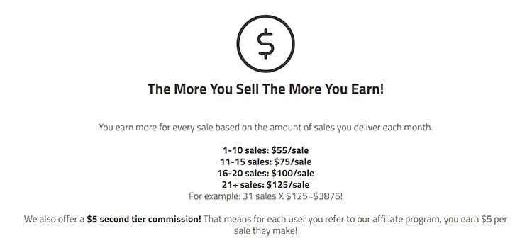 A2 Hosting - Commission rate: $55 - $125 per sale