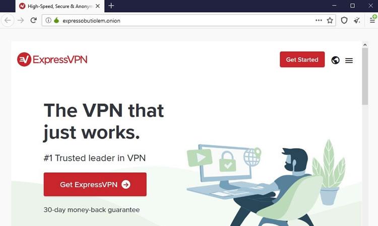 ExpressVPN .onion site