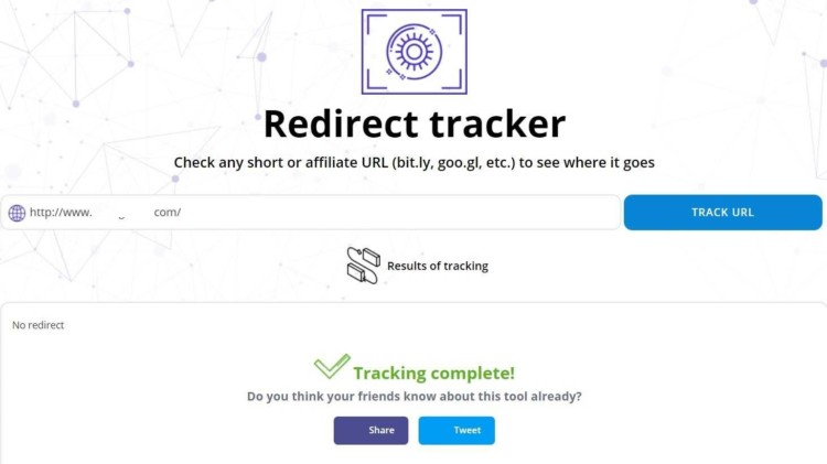 Redirect Tracker (by Website Planet)