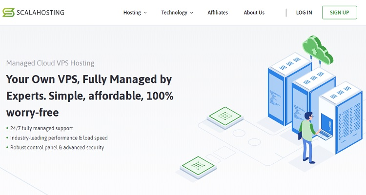 ScalaHosting VPS is fully managed by experts and is an option to Cloudways.