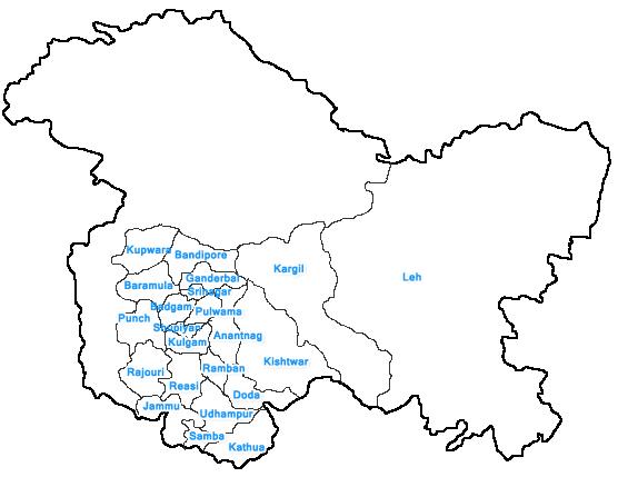 districts of jammu and kashmir-webindia123.com