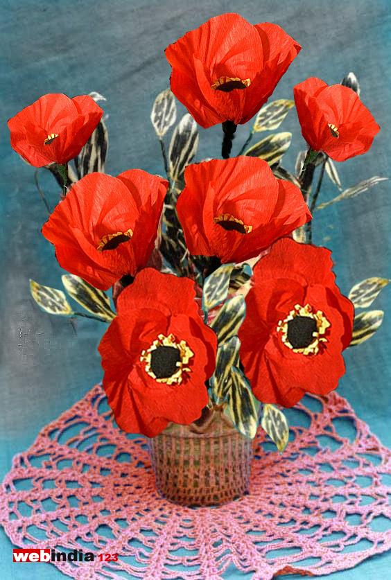 Poppy Flowershow to make Poppy FlowersCraft