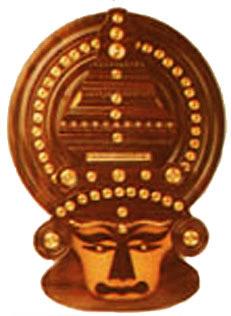 Crafts of Kerala Rosewood  Kathakali Head Indian Handicrafts