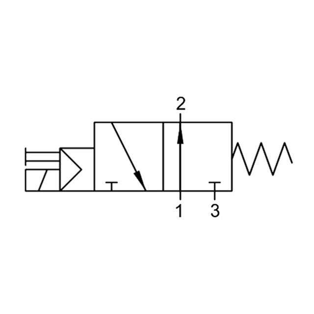 Eletropiloto con comando manual de 3/2 vías AIGNEP