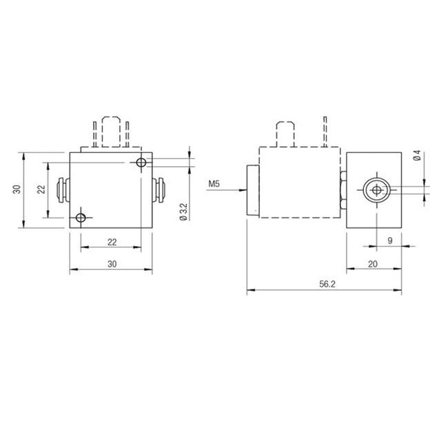 Válvula Elettropilota 3/2 NC D4 AIGNEP