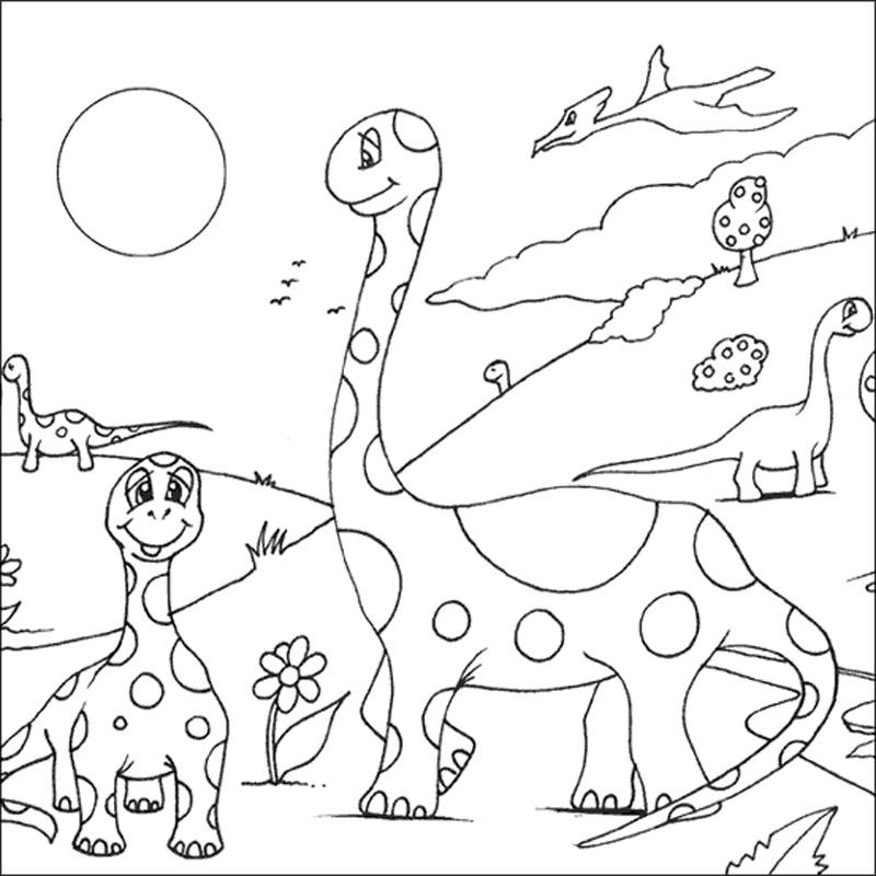 Famille dinosaures : coloriage Animaux gratuit sur Webjunior