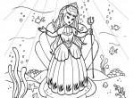 La princesse et la licorne : coloriage Princesses gratuit