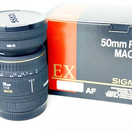 シグマのカメラレンズ「50mm F2.8 MACRO EX 」買取実績