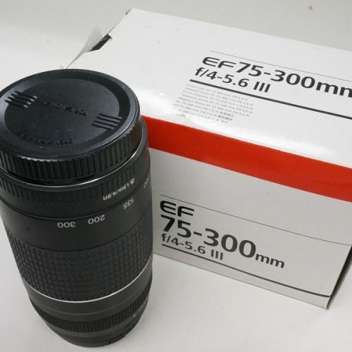キャノンのレンズ「EF75-300mm F4-5.6 Ⅲ」買取実績