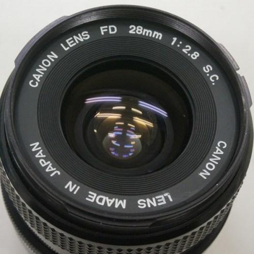 キャノンのレンズ「FD 28mm F2.8 S.C.」買取実績
