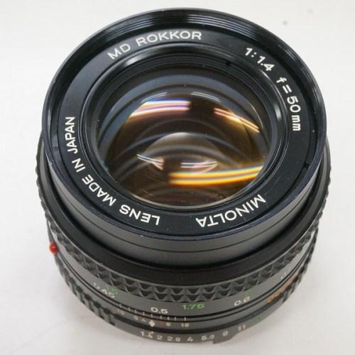ミノルタのレンズ「MD ROKKOR 50mm F1.4」買取実績