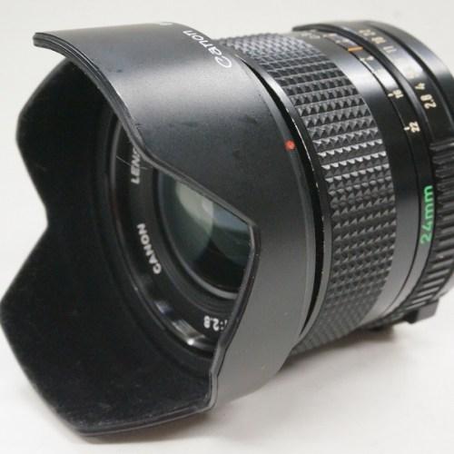 キャノンのレンズ「FD 24mm F2.8 」買取実績