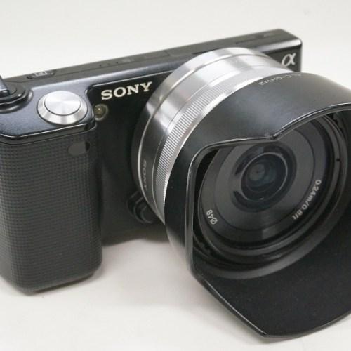 ソニーのミラーレスカメラ「α NEX-5D ダブルレンズキット」買取実績