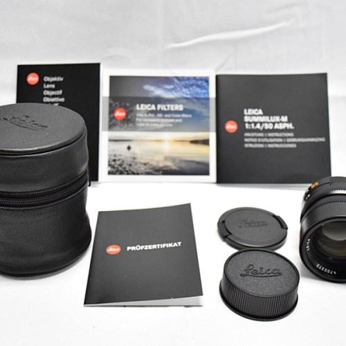 カメラ買取実績紹介「ライカ SUMMILUX-M 1.4/50 ASPH (6bit) E46」