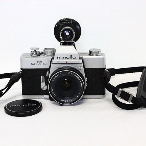 カメラ買取実績紹介「ミノルタ(Minolta)SRT101 ボディ + ROKKOR-QH F4 21mm」
