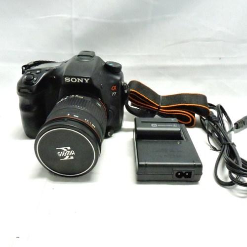 カメラ買取実績紹介「ソニー(SONY) α77 ボディ STL-77V + SIGMA ZOOM 18-200mm 1:3.5-6.30DC」
