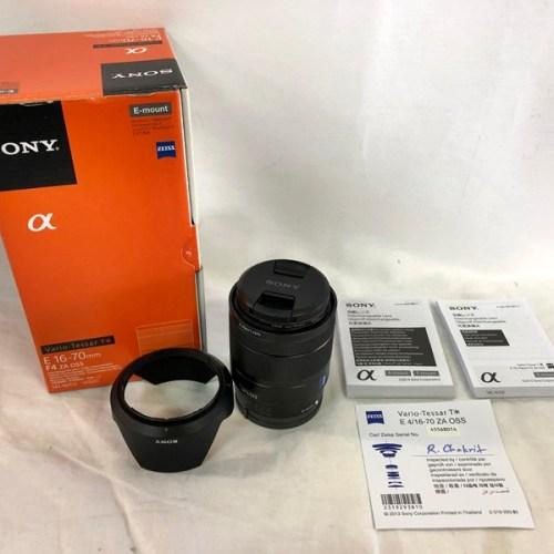 カメラ買取実績紹介「ソニー(SONY) SEL1670Z Vario-Tessar E 16-70mm F4 ZA OSS Eマウント」