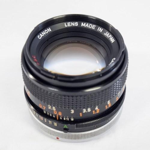 カメラ買取実績紹介「Canon キャノン FD 50mm F1.4 S.S.C. レンズ クモリ」