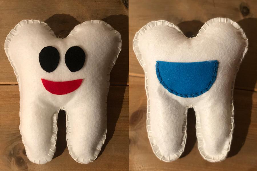 Tandenkussen afgewerkt
