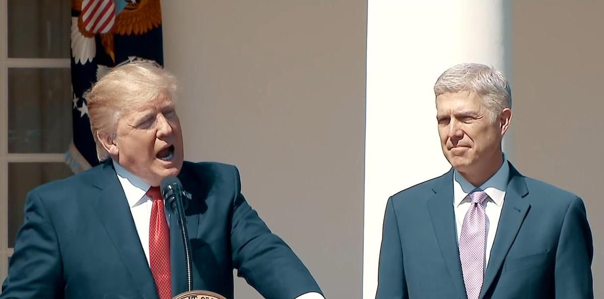 Neil Gorsuch and 5-4 Supreme Court Hide Documents To Protect Donald Trump
