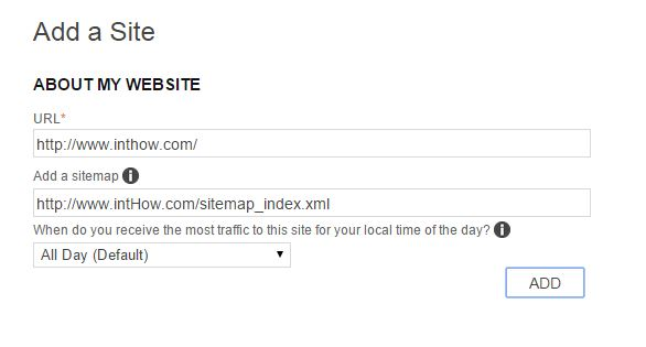 Add Sitemap on Bing