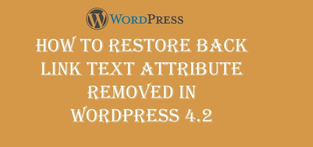 Restore Back Link Text Attribute