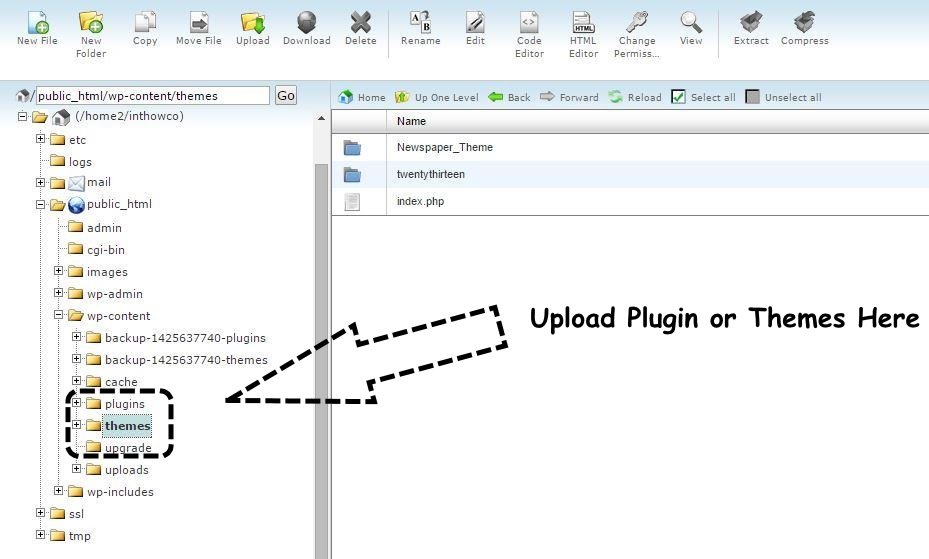 upload-plugin-theme-via-ftp