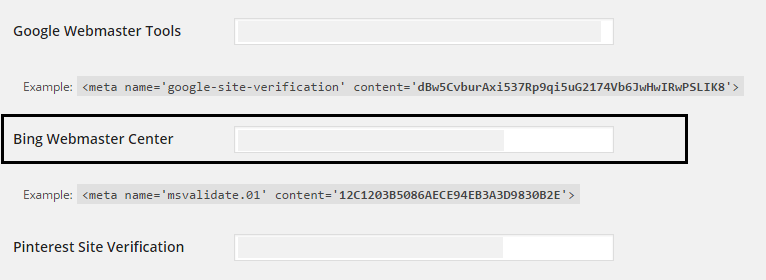 Wordpress > Tool meta Code
