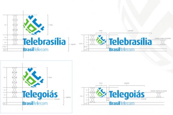 Différentes versions de logos pour Brasil Télécom