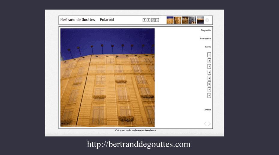Bertrand de Gouttes photographe site dynamique