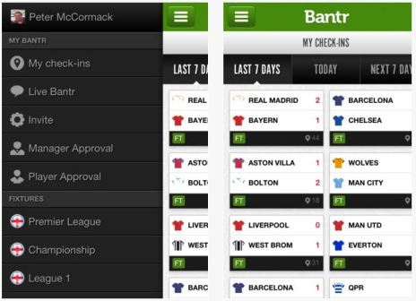Bantr Football App