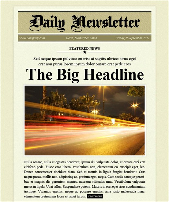 Daily Newsletter