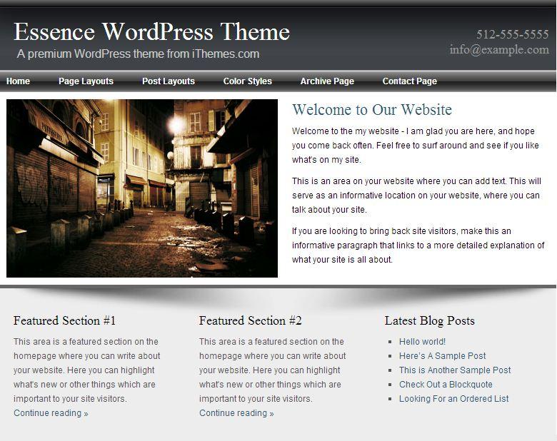 Essence WordPress Theme
