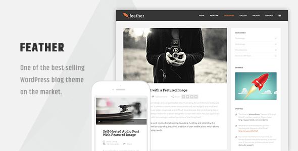 Feather – Clean Flat Responsive WordPress Blog Theme