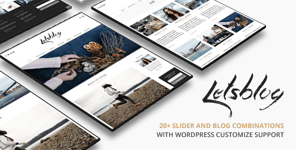 Lets Blog Responsive Blog WordPress Theme