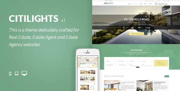 CitiLights – Real Estate WordPress Theme