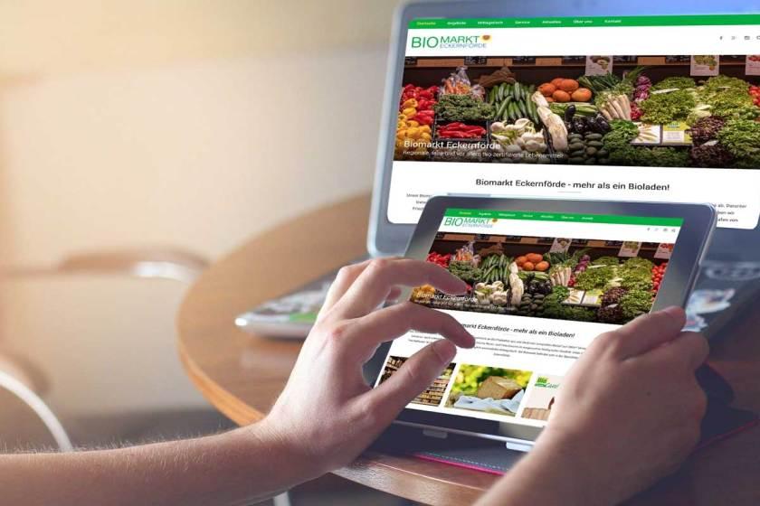 Webdesign Biomarkt