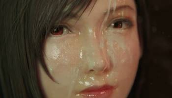 Tifa Lockart deepthroat couverte de sperme