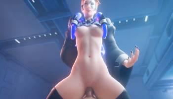 Moira d'Overwatch hentai se fait pénétrer la chatte