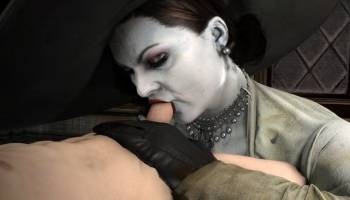Alcina Dimitrescu suce une bite dans Resident Evil 8 hentai