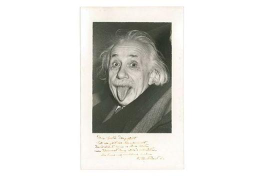 автограф на изплезения Алберт Айнщайн