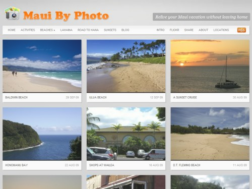 Maui by Photo portfolio homepage