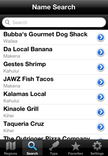 iPhone Version - Search Screen