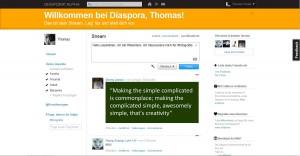 Diaspora Stream und Kreise wie bei Google+
