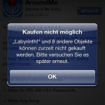 iOS Fehler - Kaufen nicht möglich