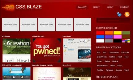 cssblaze homepage